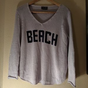 BEACH Wooden Ships Lavender Knit Sweater